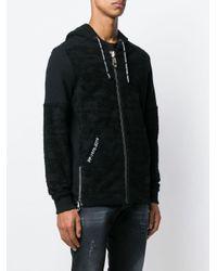 Philipp Plein Black Zipped Hoodie for men