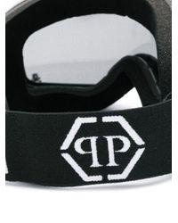Philipp Plein Black Logo Ski goggles