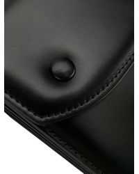 メンズ Maison Margiela スナップボタン ショルダーバッグ Black