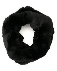 Écharpe tube texturée Emporio Armani pour homme en coloris Black