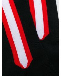 CALVIN KLEIN 205W39NYC Black Contrast Stripe Socks for men