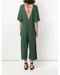 Osklen Green 'Rustic' Cropped-Jumpsuit