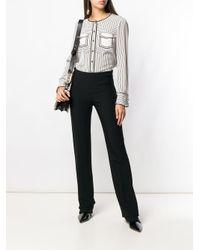 Блузка В Полоску Без Воротника Tory Burch, цвет: Multicolor