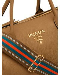 Sac cabas Shopping Prada en coloris Brown
