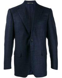 メンズ Canali スリムフィット シングルジャケット Blue