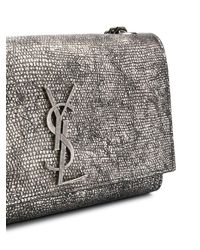 Saint Laurent Metallic Monogram Shoulder Bag