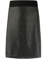 Minijupe cloutée John Richmond en coloris Black