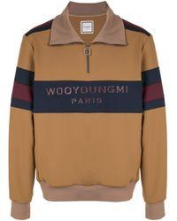Maglione con stampa di Wooyoungmi in Multicolor da Uomo