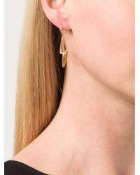 Marie-hélène De Taillac Metallic Pale Green Quartz Lighting Bolt Earings