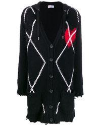 Cárdigan de punto con motivo de corazón RED Valentino de color Black