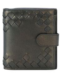 Bottega Veneta - Metallic Cut-out Detailed Wallet - Lyst