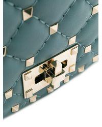 Borsa Garavani Rockstud Spike di Valentino in Blue