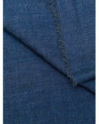 Begg & Co ウーブン スカーフ Blue