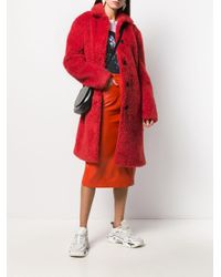 PS by Paul Smith エコファーシングルコート Red