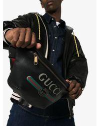 Поясная Сумка С Логотипом Gucci для него, цвет: Black
