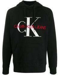 Felpa taglio comodo di Calvin Klein in Black da Uomo