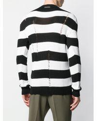 メンズ Les Hommes ストライプ セーター Black