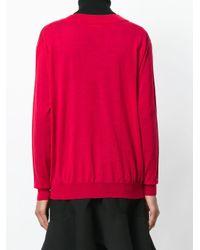 Roberto Collina Red Pullover mit V-Ausschnitt