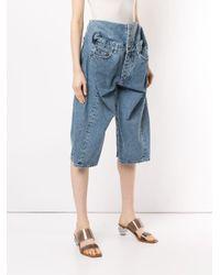 Y. Project Blue Pop-up Denim Shorts