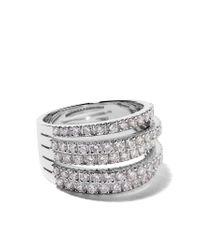 De Beers - Metallic 18kt White Gold Five Line Diamond Ring - Lyst