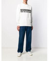 メンズ Neighborhood ロゴ スウェットシャツ White