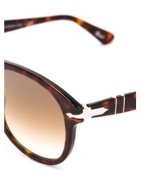 Persol Brown Round Frame Sunglasses