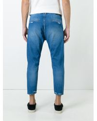 Jil Sander Blue Cropped Jeans for men