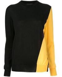 CALVIN KLEIN 205W39NYC バイカラー セーター Black