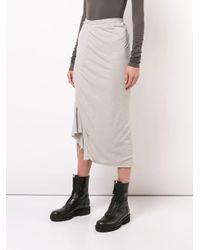 Rick Owens Lilies Multicolor Woven Asymmetric Skirt