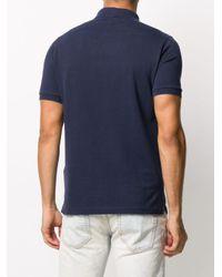 メンズ Stone Island ロゴパッチ ポロシャツ Blue
