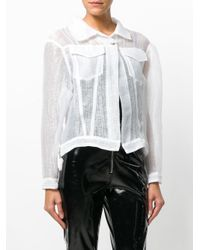 Aviu White Semi Sheer Jacket