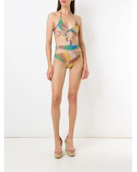Printed Cut Out Swimsuit Amir Slama, цвет: Multicolor