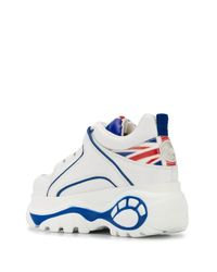 Buffalo White Plateau-Sneakers mit Union Jack