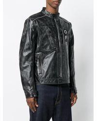 Off-White c/o Virgil Abloh Black Zip Pocket Distressed Jacket for men