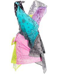 Vestito con nodo di Natasha Zinko in Multicolor
