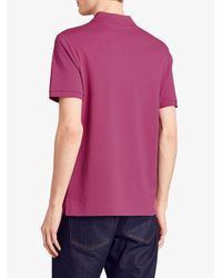 Burberry - Pink Piqué Polo Shirt for Men - Lyst