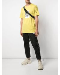 Marcelo Burlon Rose print T-shirt in Yellow für Herren