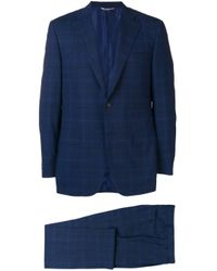 Canali Blue Check Two-piece Formal Suit for men