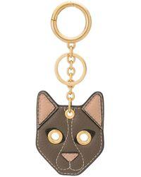 Porte-clés à breloque chat Mulberry en coloris Multicolor