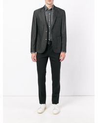 Hardy Amies - Black Madras Checked Cotton Shirt for Men - Lyst