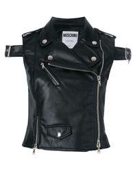 Gilet biker di Moschino in Black