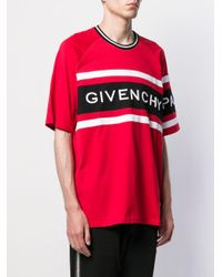 Camiseta estilo boxy Givenchy de hombre de color Red