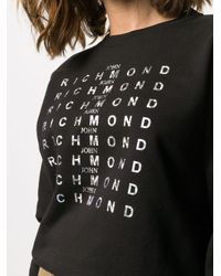 John Richmond ロゴ スウェットシャツ Black