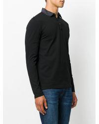 メンズ Lanvin コントラスト ポロシャツ Black