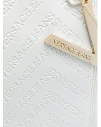 Versace Jeans - White V Pendant Tote - Lyst