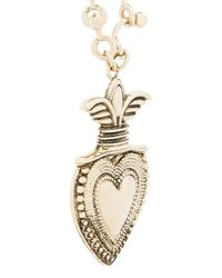 RED Valentino Metallic Love Heart Emblem Necklace
