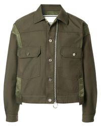 Wooyoungmi Green Button Bomber Style Jacket for men