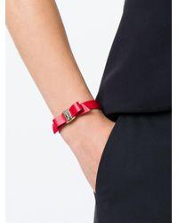 Ferragamo | Metallic 'vara' Bow Bracelet | Lyst