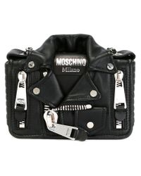 Moschino - Black Biker Crossbody Bag - Lyst
