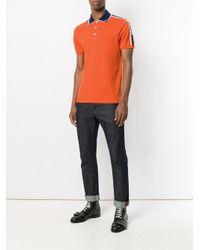 Gucci Orange Stripe Polo Shirt for men